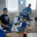 Naši riadiaci. Zľava: Jan Říha, Miro Gajdula, Roman Tkáč, Marián Chovančák